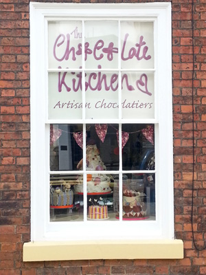 the shop front of The Chocolate Kitchen in Retford