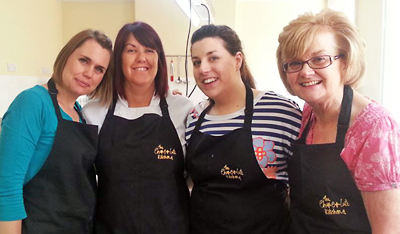 The team at The Chocolate Kitchen in Retford